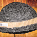 Troutaholic Beanie Tan Stripe